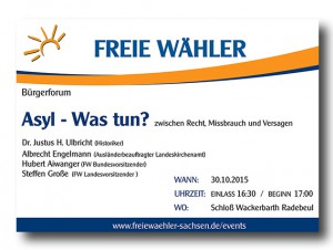 Flyer Bürgerforum FW